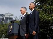 EE.UU. y Singapur por fomentar cooperación e impulsar TPP