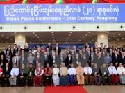 La conferencia de paz nacional se cierra en Myanmar