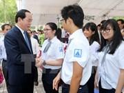 Presidente de Vietnam inauguró el año lectivo en escuela Hanoi-Amsterdam