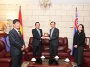 Visita Australia delegación de organización de masas de Vietnam