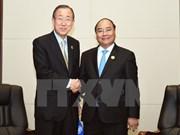 Primer ministro de Vietnam se reúne con Ban Ki-moon y Malcolm Turnbull