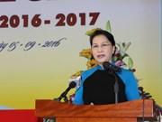 Presidenta de Parlamento de Vietnam efectúa visita a Laos