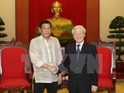 Filipinas prioriza impulso de cooperación multifacética con Vietnam