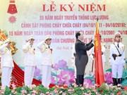 Presidente de Vietnam urge a policía contra incendios mejorar sus labores