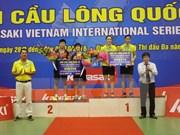 Vietnam logra tres medallas de oro en torneo internacional de bádminton