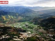 El valle de Khau Pha en la temporada de riego