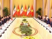 Presidente de Vietnam sostiene conversaciones con su homólogo iraní