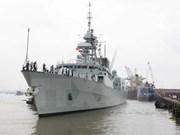 Buque naval de Canadá arriba Ciudad Ho Chi Minh
