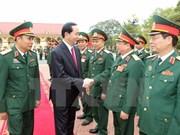 Presidente de Vietnam fija tareas para fuerzas armadas de zona militar 2 en Phu Tho