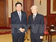 Secretario general del PCV recibe a premier laosiano