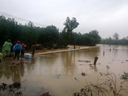 Actividades a favor de pobladores afectados por inundaciones