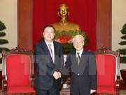 Líder partidista recibe a presidente de la Asamblea Popular Nacional de China