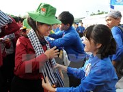 Barco juvenil Sudeste Asiático-Japón visita Ciudad Ho Chi Minh
