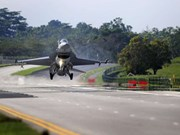 Fuerza aérea de Singapur realiza un ejercicio