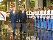 Presidentes de Vietnam y Cuba destacan avances en relaciones bilaterales