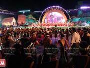 Eco de la noche del Festival de la Cultura de los gongs de Tay Nguyen
