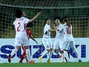 [Fotos] La selección femenina de fútbol vietnamita ganó boleto a la Copa Asiática