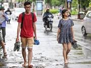 ¡Finalmente! Lluvia en Hanoi tras días de calor abrasador