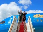 [Fotos] Presidente de Vietnam inicia visita a Rusia
