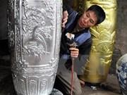 Aldea Kieu Ky: lugar donde el laminado de oro se convierte en arte
