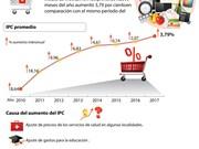 [Infografía] IPC promedio de Vietnam crece 3,79 por ciento