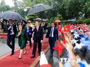 [Fotos] Presidente de Vietnam recibe a Michelle Bachelet