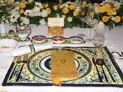 [Fotos] Artículos cerámicos de Minh Long presentes en cena de gala de líderes de economías miembro del APEC