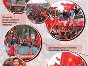 La selección de fútbol sub-23 de Vietnam  regresa a su país con el caluroso abrazo de fanáticos