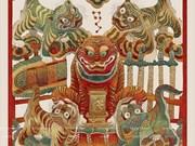 Restauración de pintura folclórica tradicional