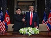 [Fotos] Donald Trump y Kim Jong-un firman acuerdo bilateral