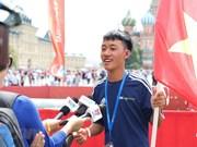 [Foto] Niños vietnamitas participan en competición de fútbol en Rusia