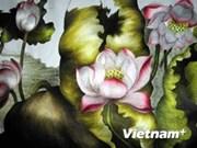 (TV) Pinturas bordadas a mano conquistan a amantes del arte