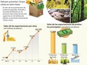 [Infografía] Exportación de agricultura, silvicultura y acuicultura de Vietnam aumentan 7,8 por ciento en siete meses