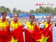 [Foto] Equipo femenino de remo entrega primera medalla de oro a Vietnam en ASIAD 2018