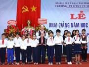 [Foto] Dirigentes vietnamitas asisten a actos de inicio de nuevo curso escolar