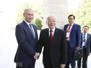 [Fotos] Máximo dirigente partidista de Vietnam se reúne con Vladimir Putin