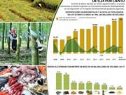 (Info) Exportaciones agroforestales y acuícolas registran aumento interanual de 9,24 por ciento