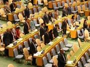 Asamblea Nacional de la ONU dedica minuto de silencio al presidente de Vietnam