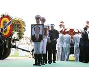 (Fotos) Efectúan entierro del presidente Tran Dai Quang en su ciudad natal