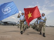 [Foto] Más de 30 oficiales del hospital de campaña de Vietnam llegan a Sudán del Sur para misión de paz
