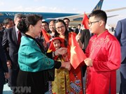 [Fotos] Presidenta parlamentaria vietnamita, Nguyen Thi Kim Ngan, llega a Turquía