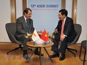 Vicepremier y canciller de Vietnam continúa con agenda apretada al margen de ASEM
