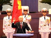 [Fotos] Máximo dirigente partidista de Vietnam jura como Presidente del país