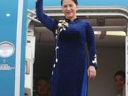 [Fotos] La presidenta de la Asamblea Nacional de Vietnam llegó a Seúl