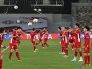 [Fotos] Equipo de fútbol de Vietnam listo para partido contra Irak en Copa Asiática
