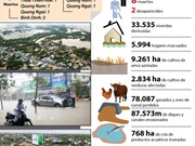[Infografía] Inundaciones provocan grandes pérdidas en Centro de Vietnam