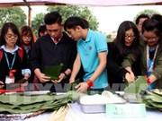 Estudiantes extranjeros inmersos en ambiente del Año Nuevo Lunar en Vietnam