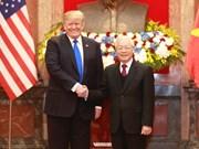 [Fotos] Máximo dirigente de Vietnam se reúne en Hanoi con presidente Donald Trump