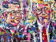 [Video] Artista vietnamita y un centenar de pinturas sobre presidentes Trump y Kim