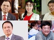 (Televisión) Incluyen a cinco vietnamitas en la lista de multimillonarios de la revista Forbes